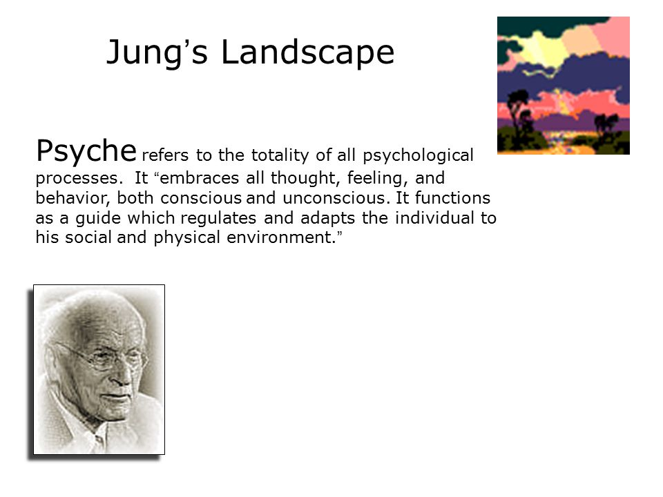 Jung ' s Landscape Psyche refers to the totality of all psychological processes.