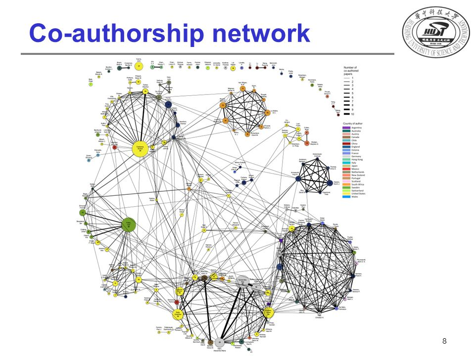 Co-authorship network 8