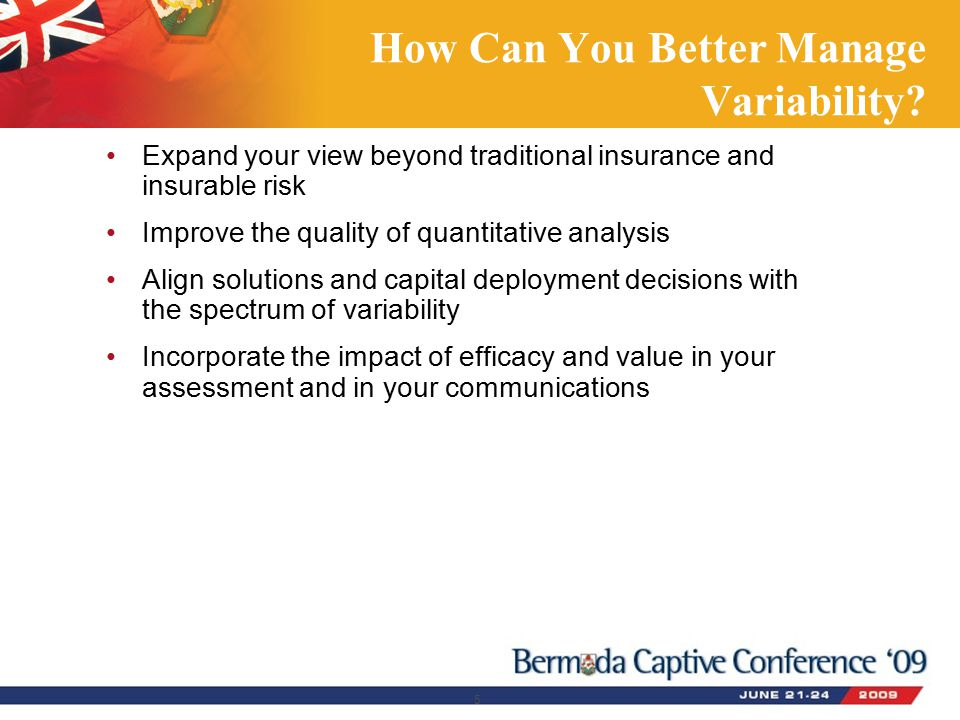 How Can You Better Manage Variability.