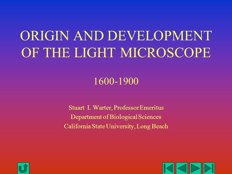 THE LIGHT MICROSCOPE Plan of the Presentation Introduction The Simple Microscope The Compound Microscope The English Microscope The European Microscope The American Microscope