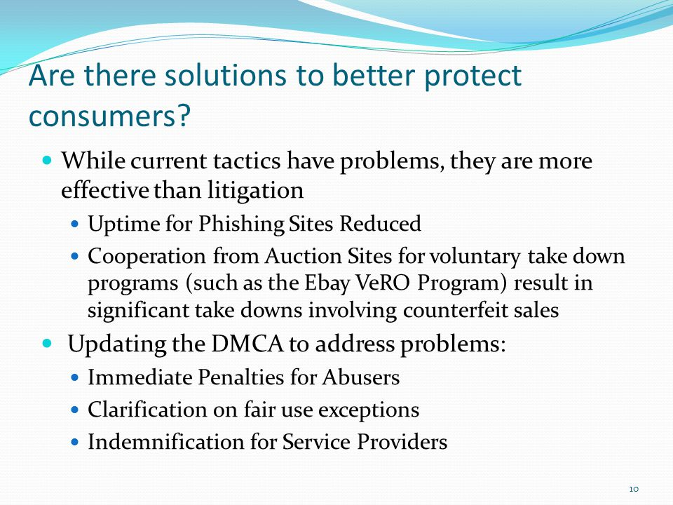 Are there solutions to better protect consumers.