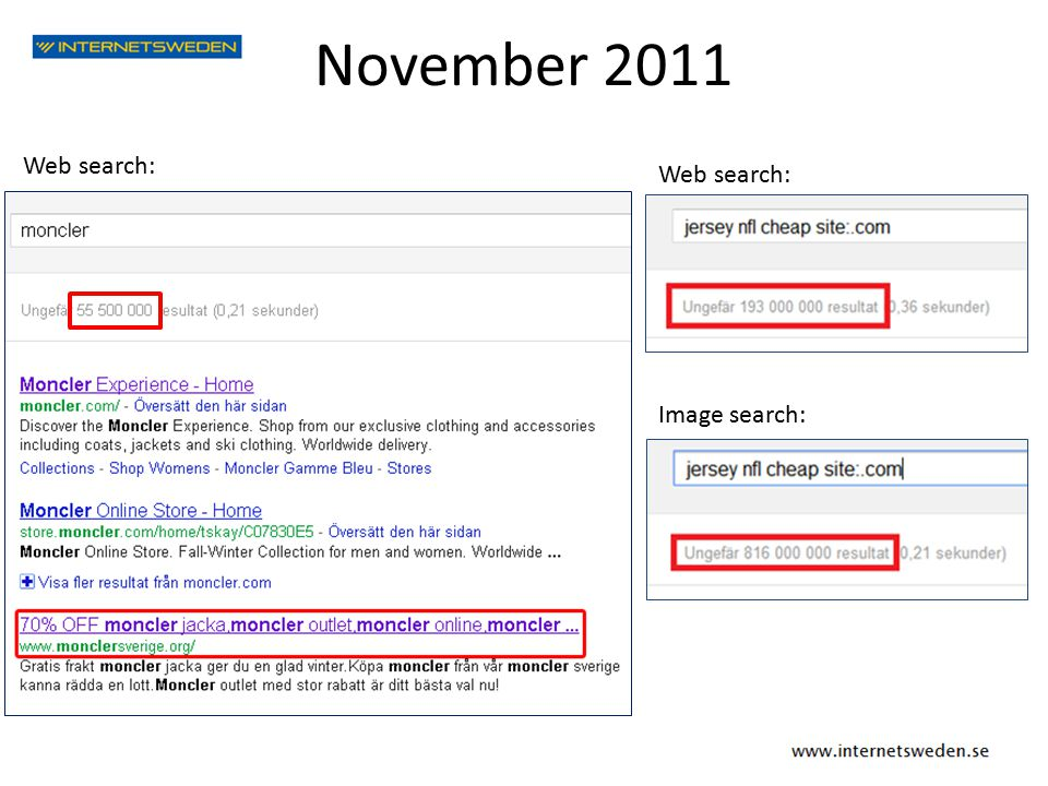 November 2011 Web search: Image search: