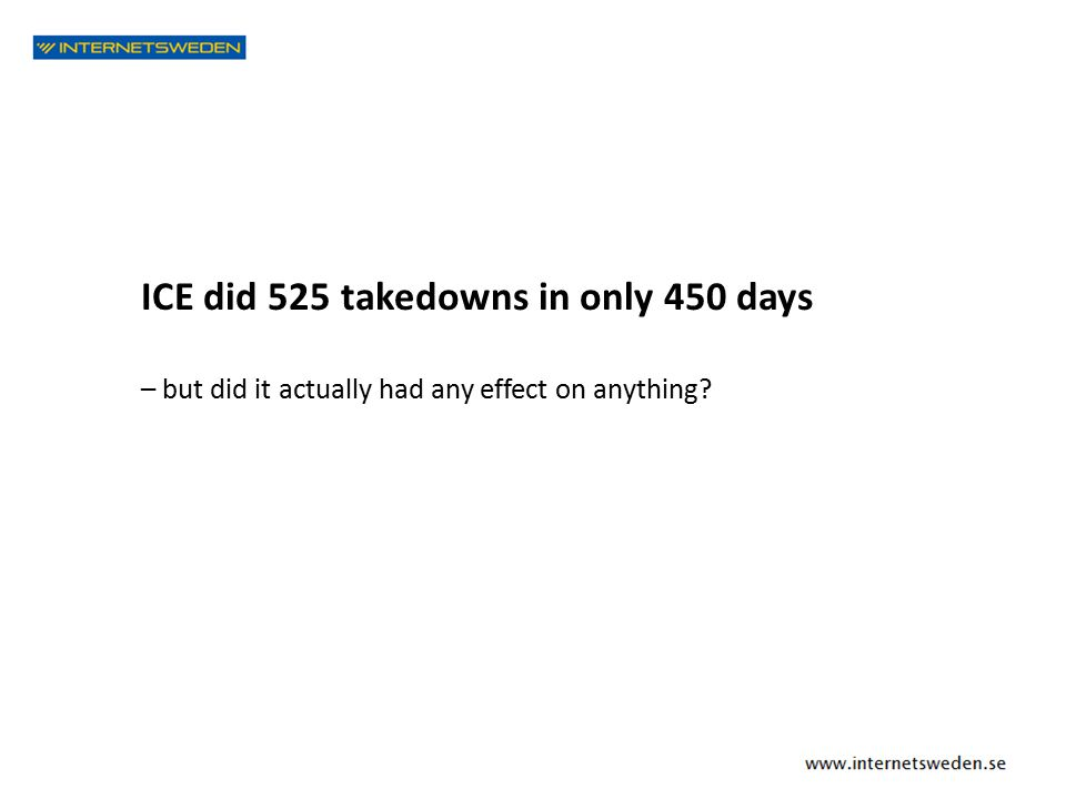 ICE did 525 takedowns in only 450 days – but did it actually had any effect on anything?