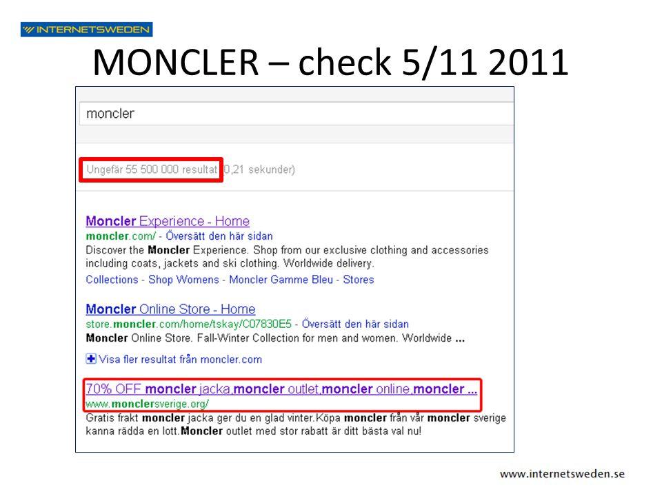 MONCLER – check 5/11 2011