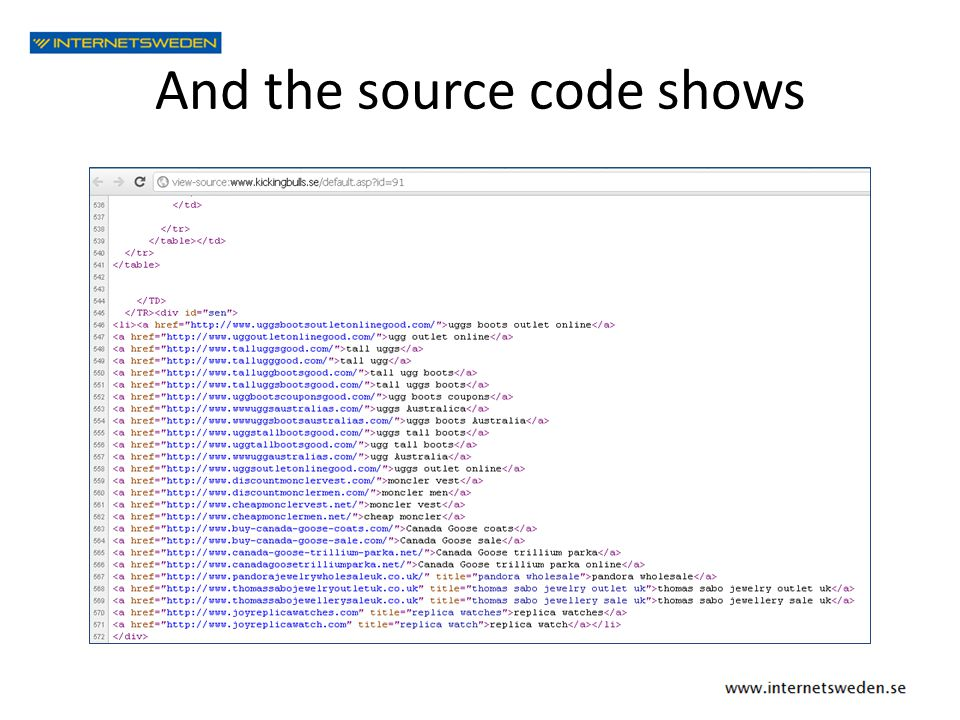 And the source code shows