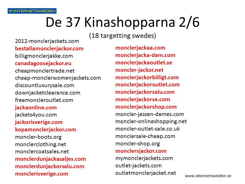 De 37 Kinashopparna 2/6 (18 targetting swedes) monclerjackaa.com monclerjacka-dam.com monclerjackaoutlet.se moncler-jackor.net monclerjackorbilligt.com monclerjackoroutlet.com monclerjackorsalu.com monclerjackorse.com monclerjackorshop.com moncler-jassen-dames.com moncler-onlineshopping.net moncler-outlet-sale.co.uk monclersale-cheap.com moncler-shop.org monclersjackor.com mymonclerjackets.com outlet-jackets.com outletmonclerjacket.net 2012-monclerjackets.com bestallamonclerjackor.com billigmonclerjakke.com canadagoosejackor.eu cheapmonclertrade.net cheap-monclerwomenjackets.com discountluxurysale.com downjacketclearance.com freemoncleroutlet.com jackaonline.com jackets4you.com jackorisverige.com kopamonclerjackor.com moncler-boots.org monclerclothing.net monclercoatsales.net monclerdunjackasaljes.com monclerdunjackorsalu.com monclerisverige.com