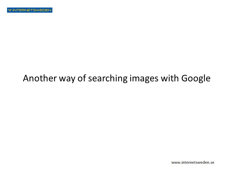 Another way of searching images with Google