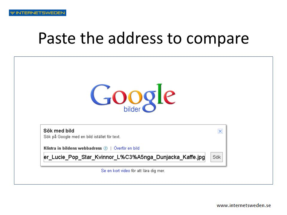 Paste the address to compare