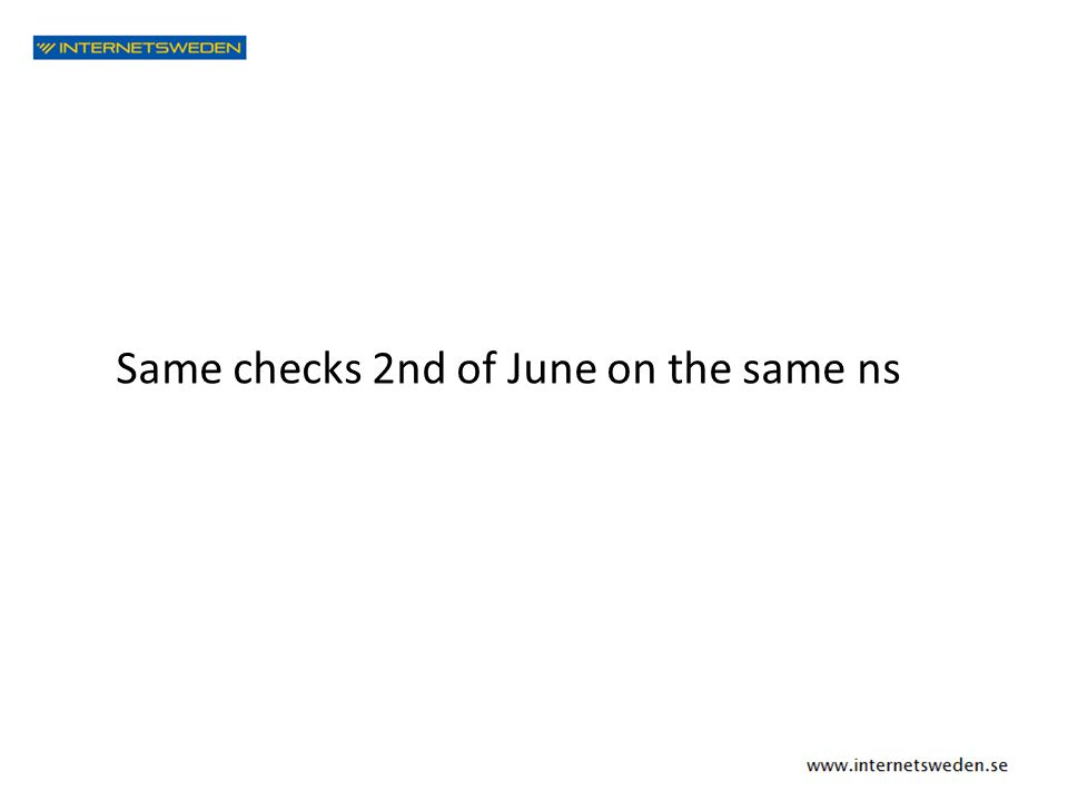 Same checks 2nd of June on the same ns