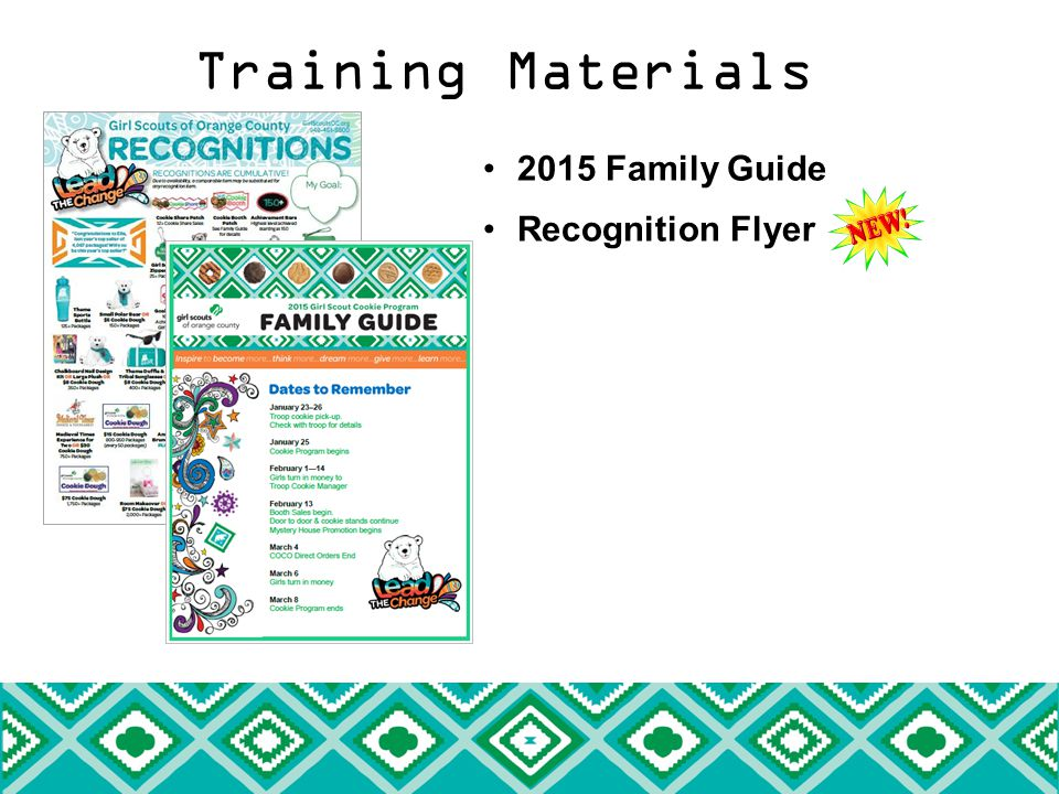 Training Materials 2015 Family Guide Recognition Flyer