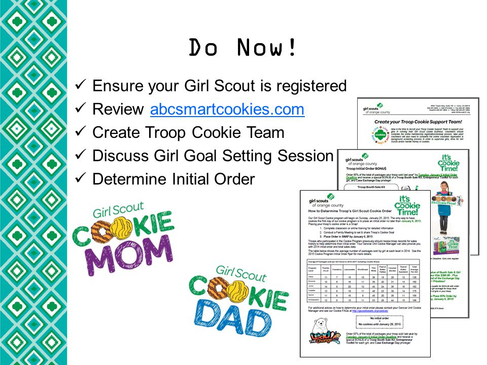 Guiding Girls to Set Goals Electronic copies at GSCookiesETC.o rg