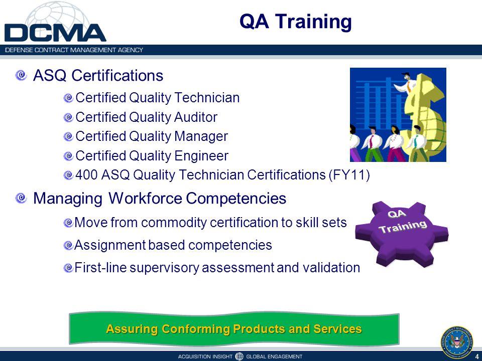 QA Training ASQ Certifications Certified Quality Technician Certified Quality Auditor Certified Quality Manager Certified Quality Engineer 400 ASQ Qua