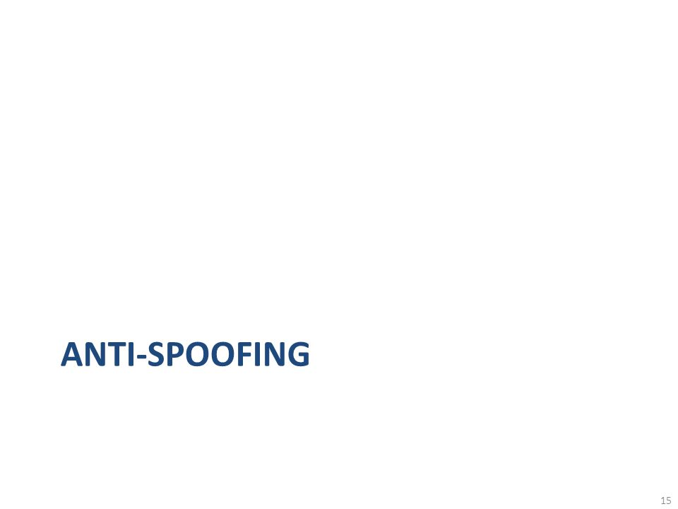 ANTI-SPOOFING 15