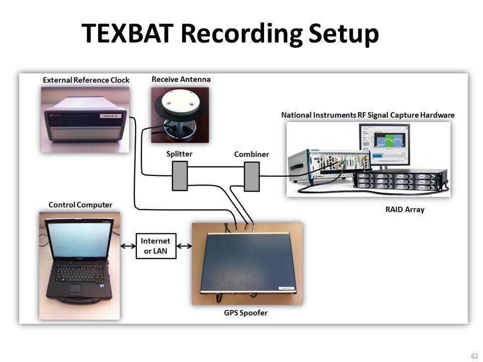 TEXBAT Recording Setup 42