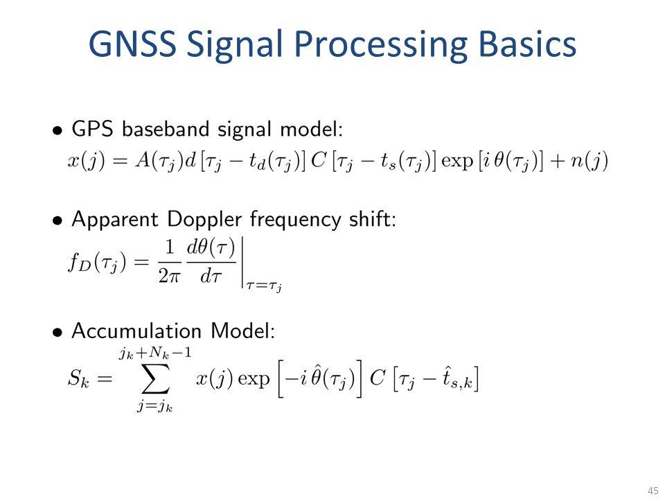 GNSS Signal Processing Basics 45