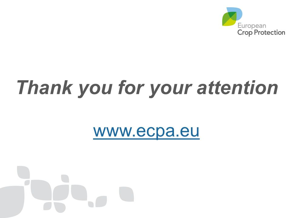 Thank you for your attention www.ecpa.eu