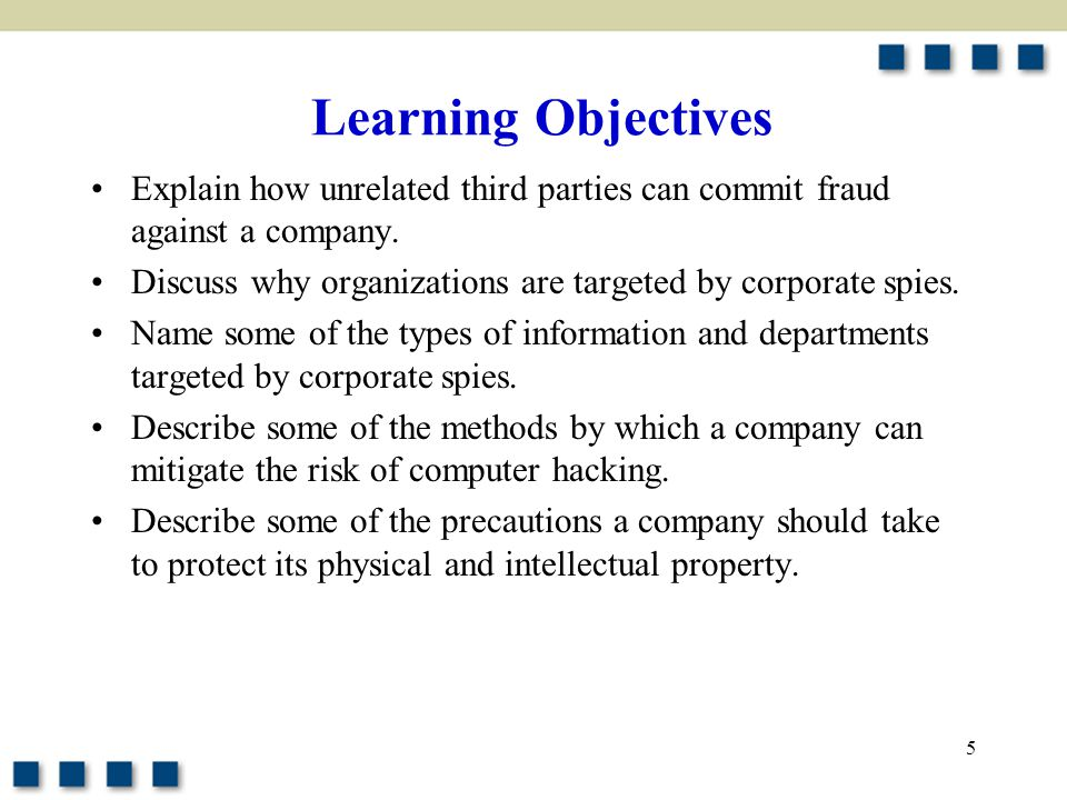 5 Explain how unrelated third parties can commit fraud against a company.