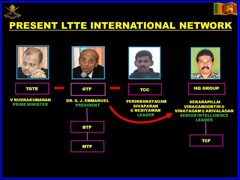 TGTE V RUDRAKUMARAN PRIME MINISTER GTF DR. S. J.