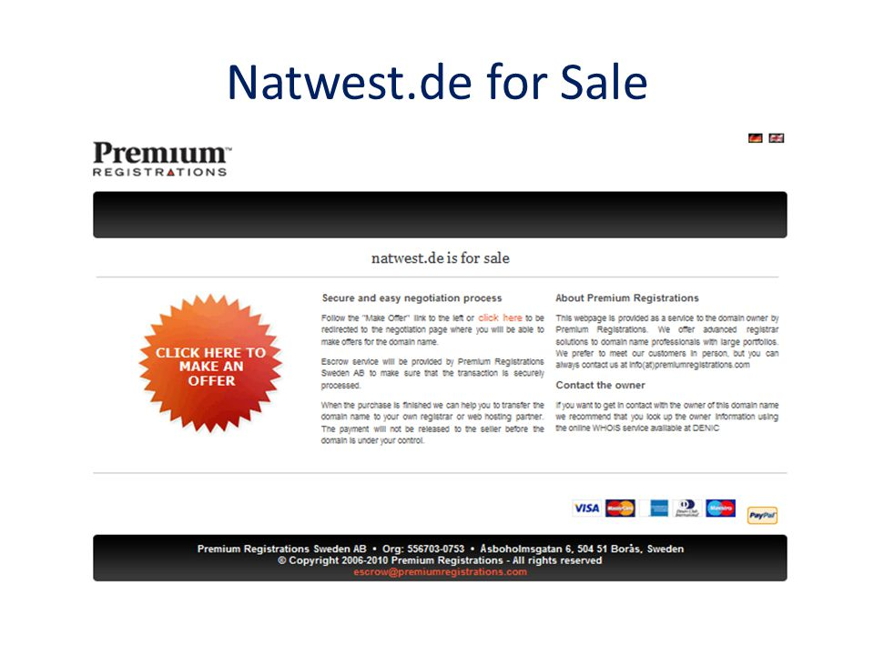 Natwest.de for Sale