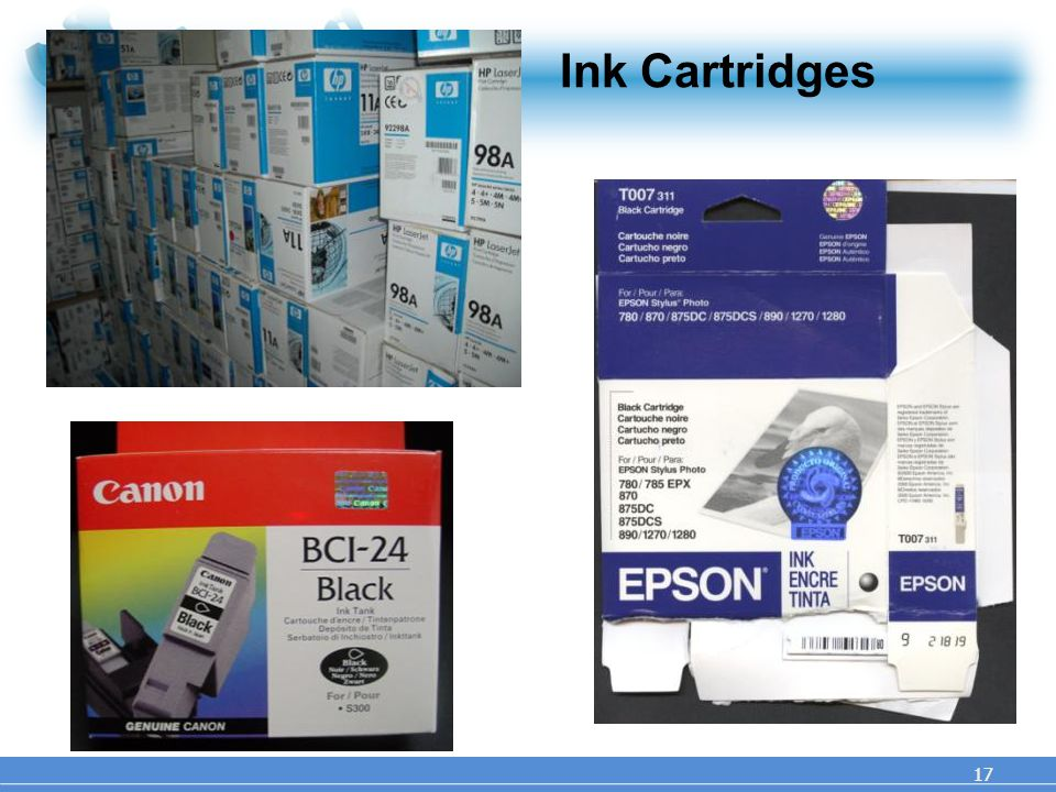 Ink Cartridges 17