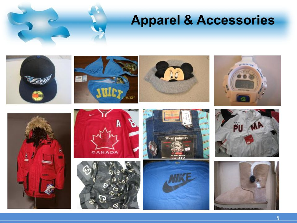 Apparel & Accessories 5 5