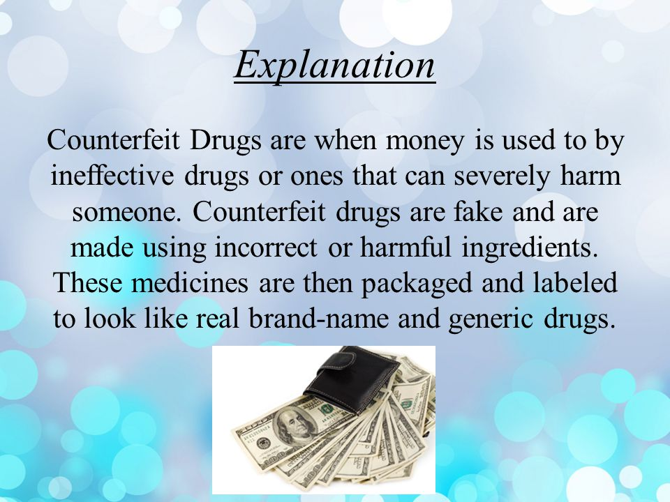 These drugs look very similar at first glance. Looking closely they are counterfeit drugs.
