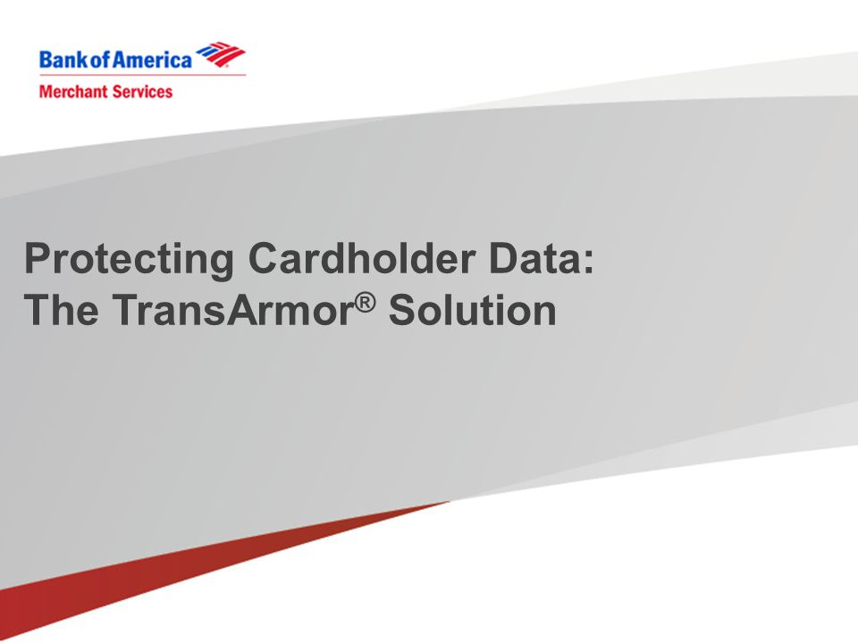 Protecting Cardholder Data: The TransArmor ® Solution