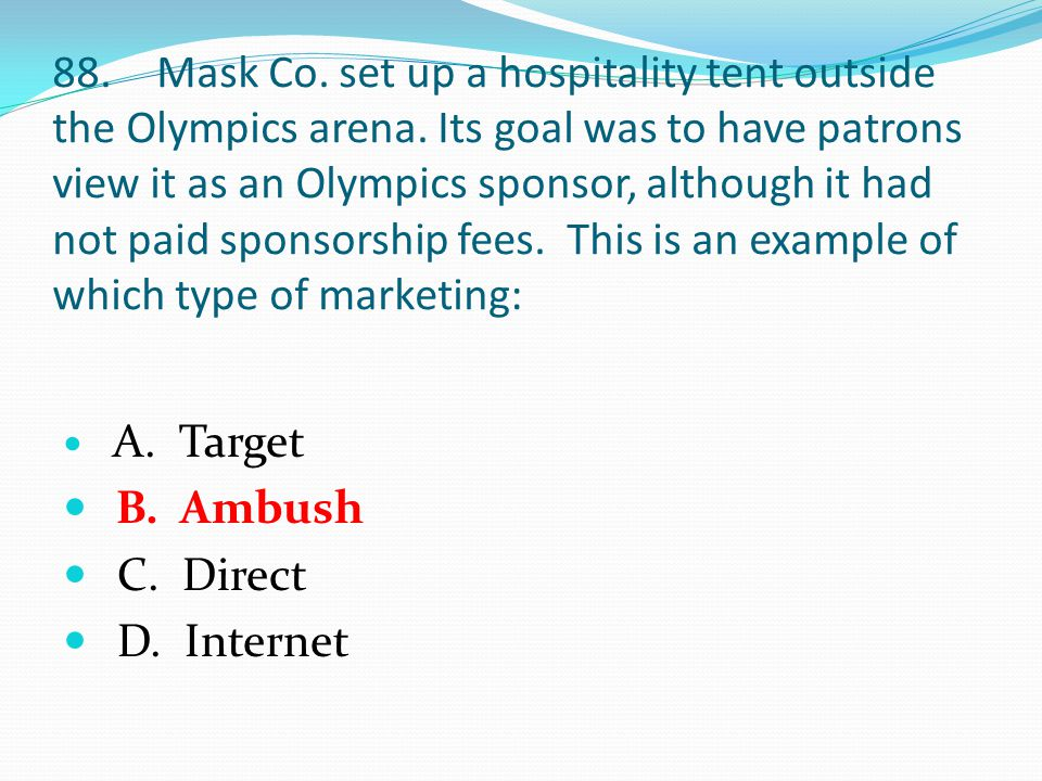 88.Mask Co. set up a hospitality tent outside the Olympics arena.