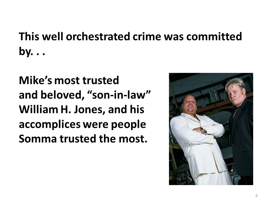 The Most Trusted Person Involved In This Conspiracy William H.