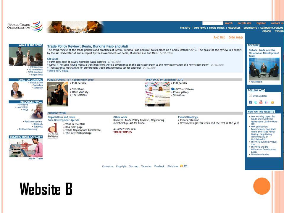 Website B