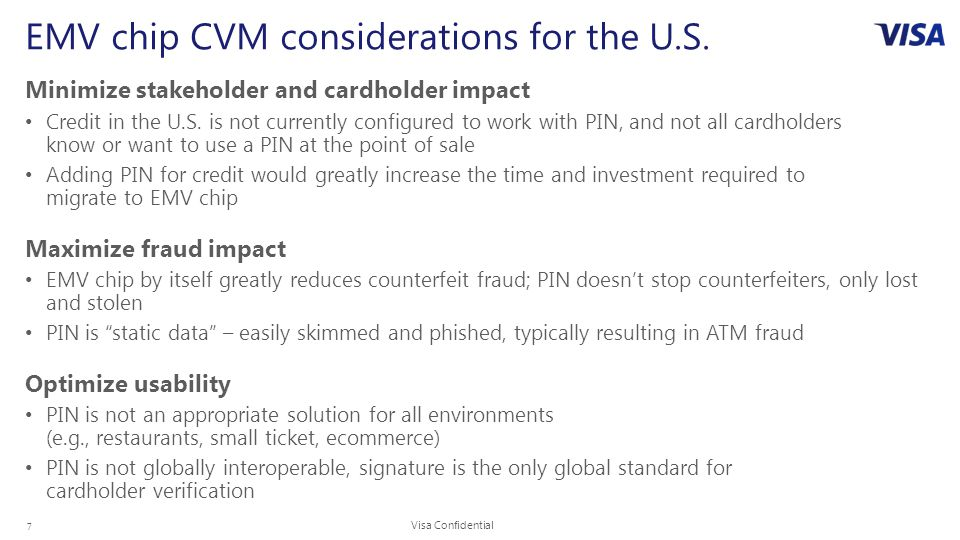 7 EMV chip CVM considerations for the U.S.