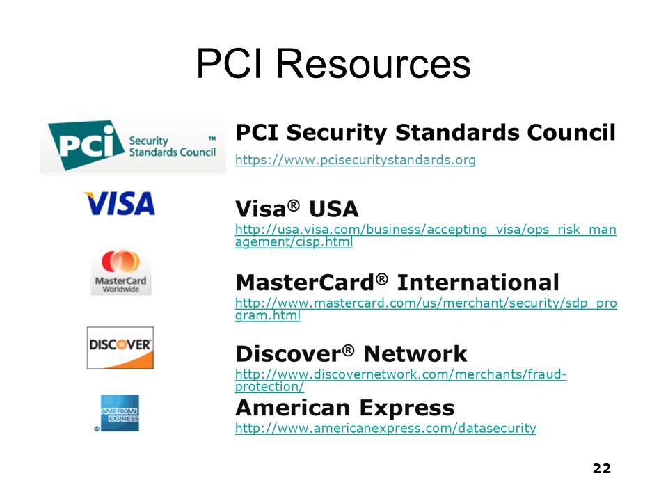 PCI Resources 22