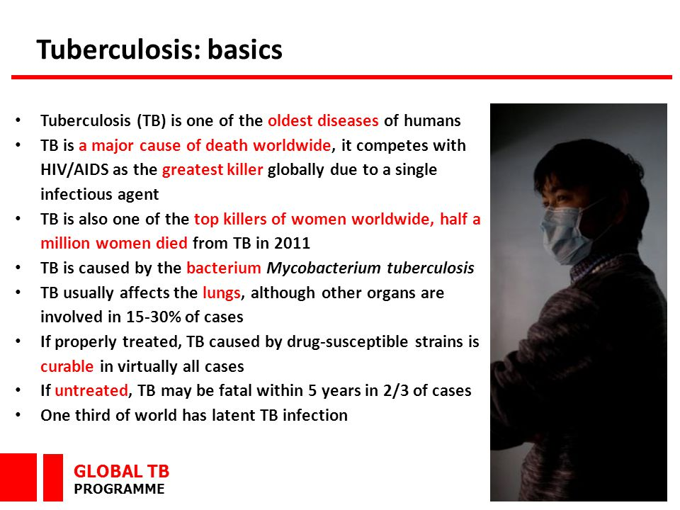 GLOBAL TB PROGRAMME Mycobacterium tuberculosis complex: M.