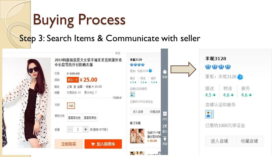 Buying Process Step 3: Search Items & Communicate with seller