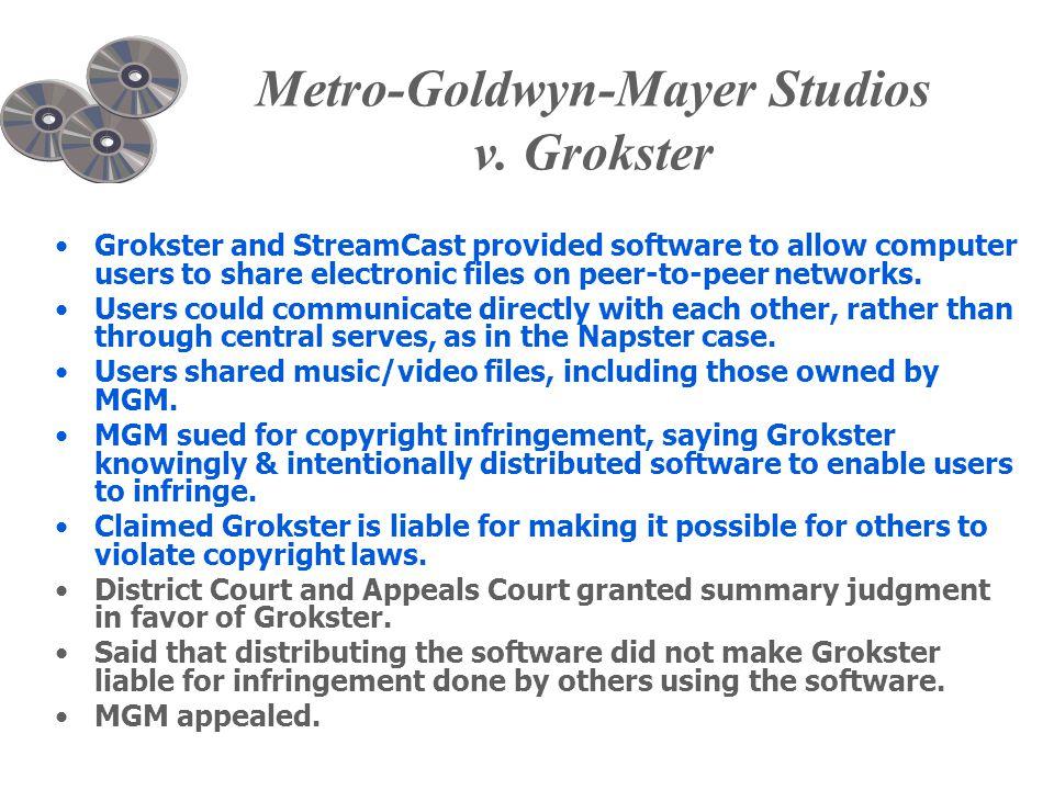 Metro-Goldwyn-Mayer Studios v.