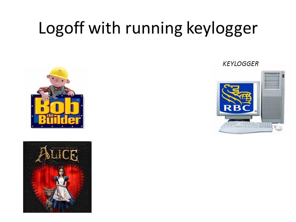 Logoff with running keylogger KEYLOGGER