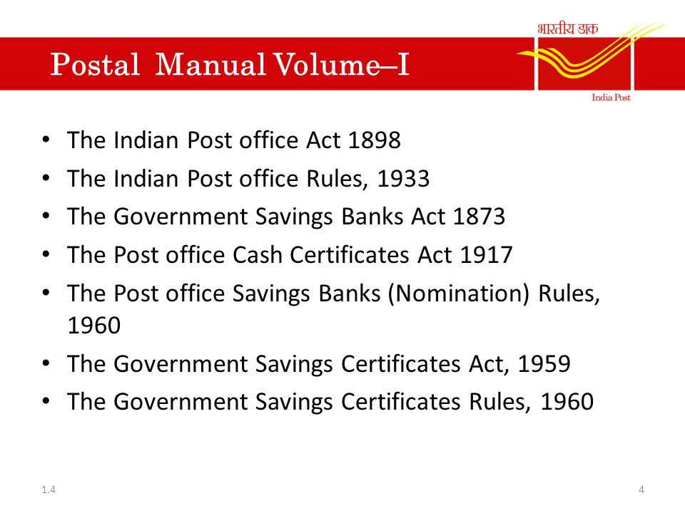 Postal Manual Volume-IV Syllabus for on the job training of candidates appointed as clerks in Mail Motor Service.