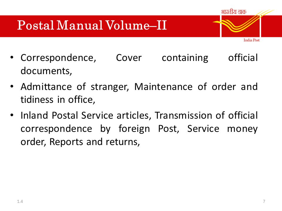 Financial Hand book Vol-I List of remittance transactions of Post Offices with other departments under the Government of Indian audit Department.