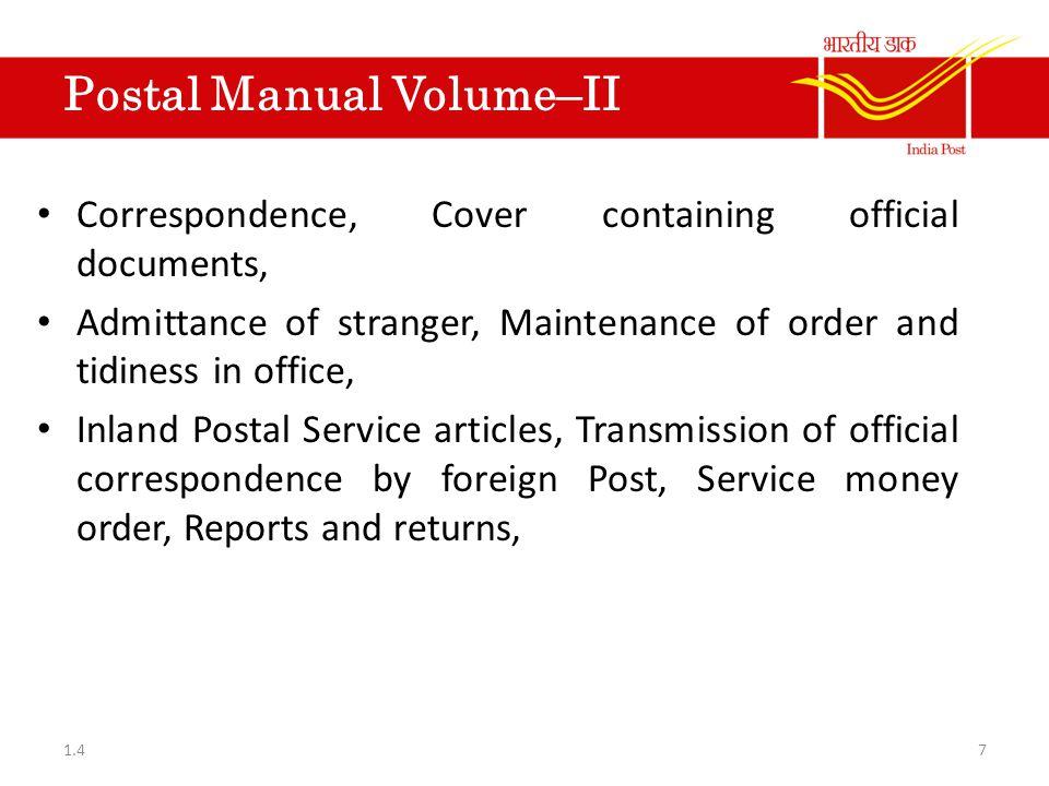 PO SB Manual Vol- II Kisan Vikas Patra-Procedure to be followed.