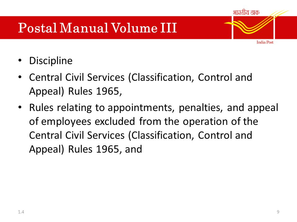 Manual Of Appointments And Allowances This manual contains rulings relating to: - Classification and Status of Services of Gazetted officers, Central Services class I, II, III, IV.