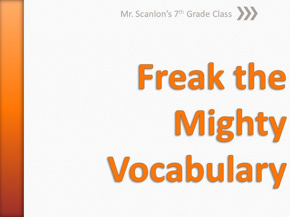 Mr. Scanlon's 7 th Grade Class