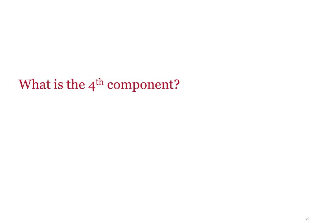 4 What is the 4 th component