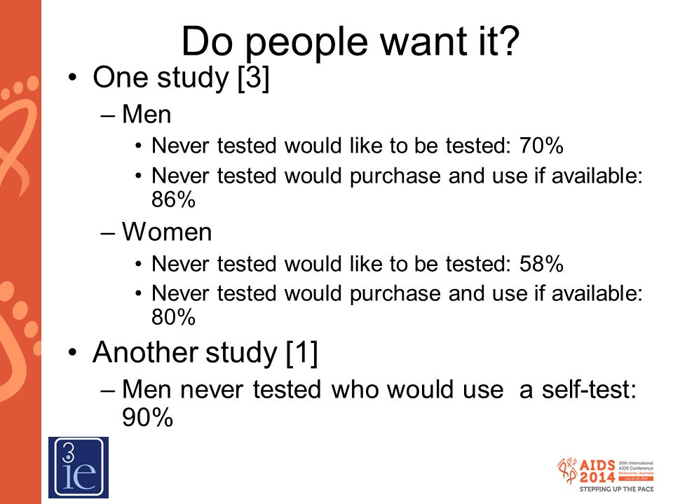 Why would people use self-tests? [1]