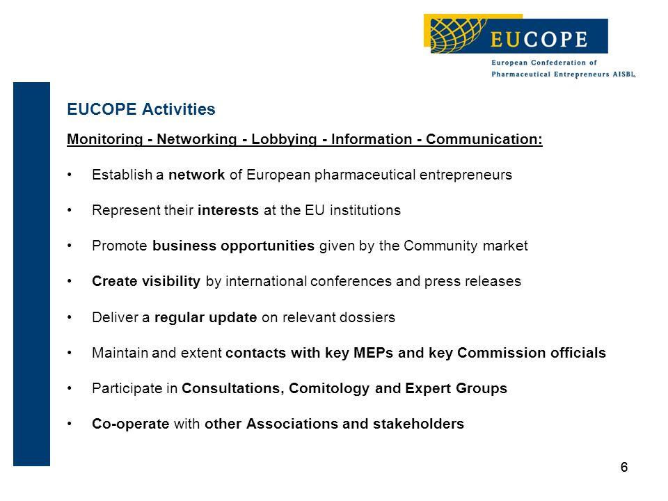 77 14 new EUCOPE Members in 2011