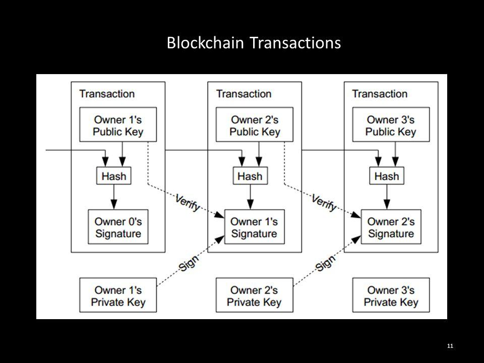 11 Blockchain Transactions