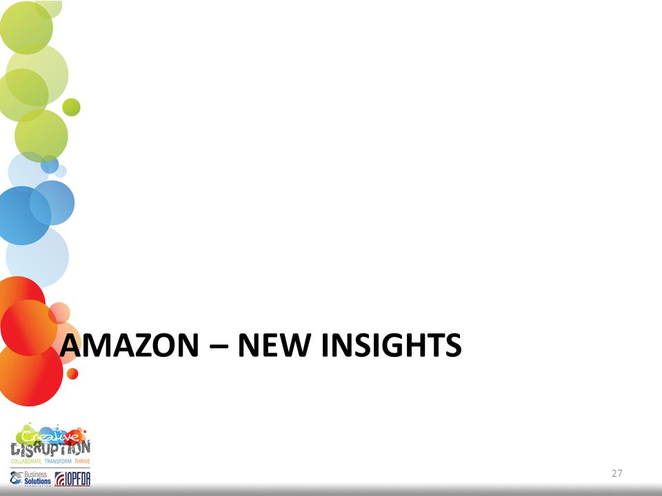 AMAZON – NEW INSIGHTS 27
