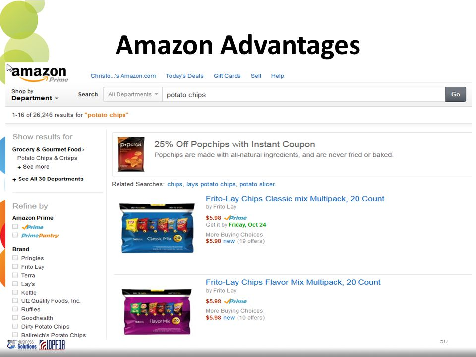 Amazon Advantages 50 Source: StatCounter, 5/14.