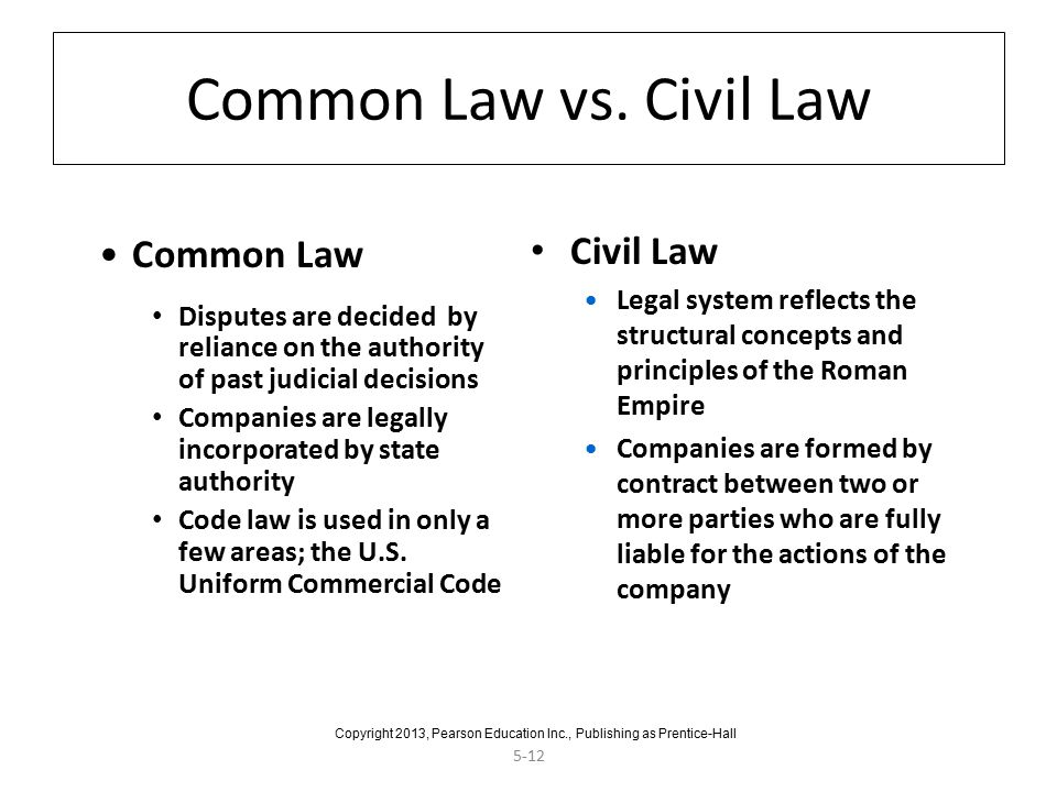 5-12 Common Law vs.