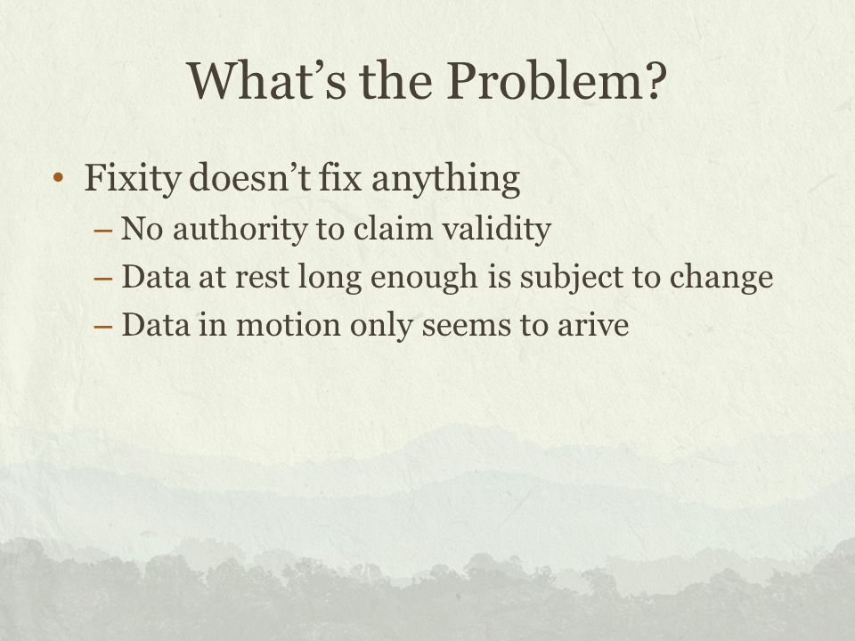 Some Solutions Jay Gattuso – Digital Preservation Analyst, National Library of New Zealand, Digital Preservation Team.