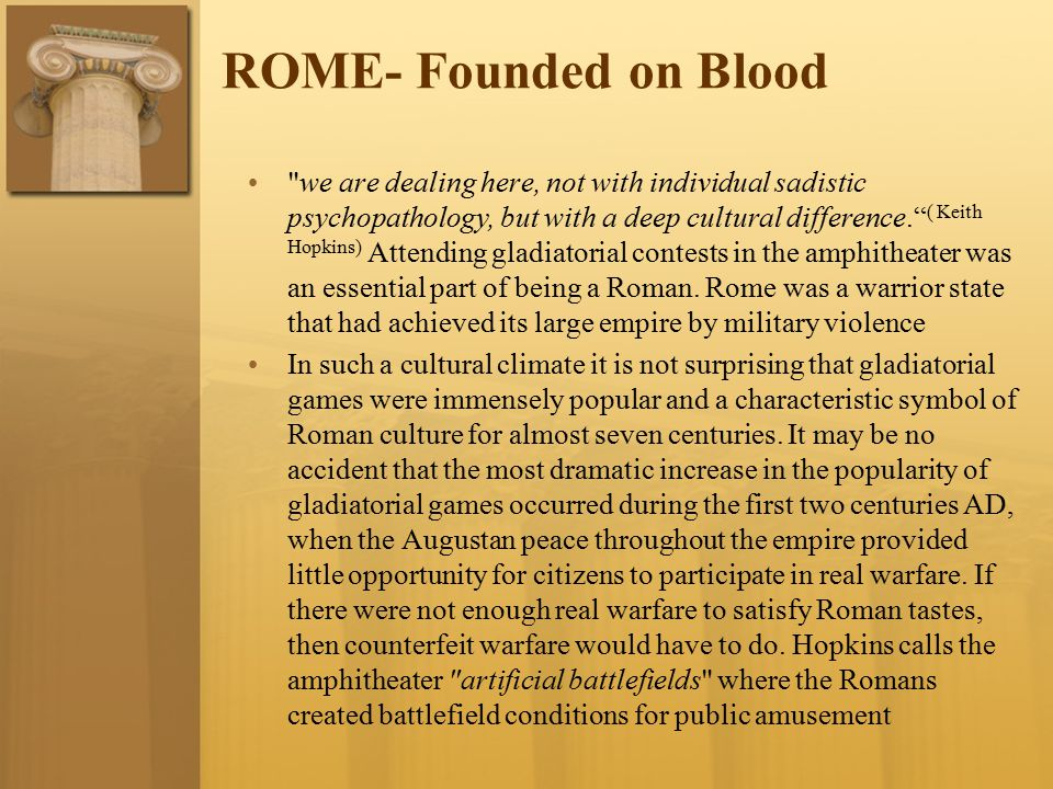 ROME- Founded on Blood